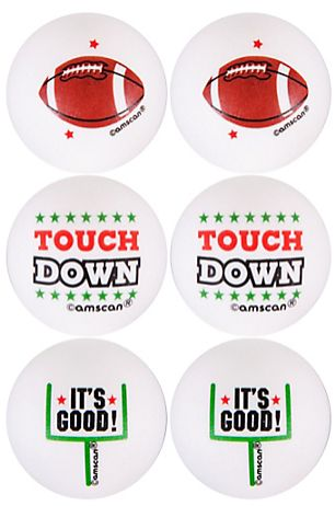 Football Pong Balls, 6ct