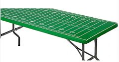 Football Field Table Cover w/Elastic Edge