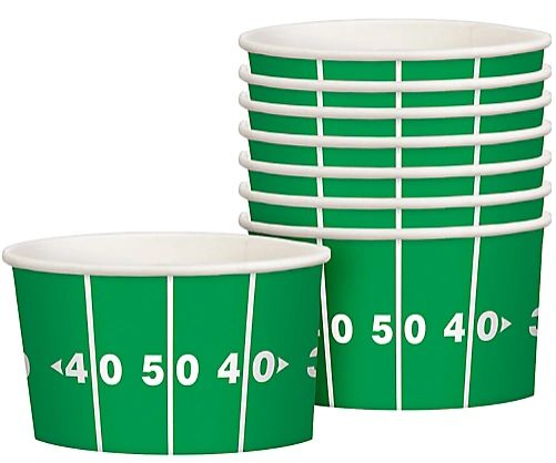 Football Paper Treat Cups, 8ct