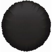 Round 01 Black Mylar Balloon 18in