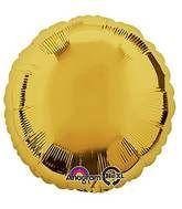 Round 04 Metallic Gold Mylar Balloon 18in