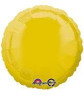 Round 07 Yellow Mylar Balloon 18in