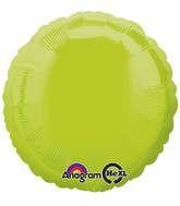 Round 09 Kiwi Green Mylar Balloon 18in