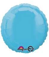 Round 17 Caribbean Blue Mylar Balloon 18in