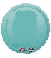 Round 18 Robin's Egg Blue Mylar Balloon 18in