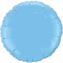 Round 20 Pale Blue Mylar Balloon 18in
