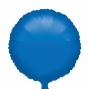 Round 23 Metallic Blue Mylar Balloon 18in