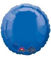 Round 24 Dark Blue Mylar Balloon 18in