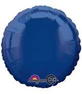 Round 25 Navy Blue Mylar Balloon 18in