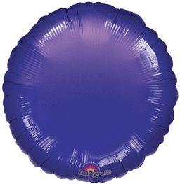 Round 26 Metallic Purple Mylar Balloon 18in