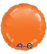 Round 41 Orange Mylar Balloon 18in