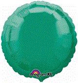 Round 14 Emerald Green Mylar Balloon 18in