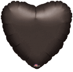 Heart 01 Black Mylar Balloon 18in