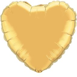 Heart 04 Metallic Gold Mylar Balloon 18in