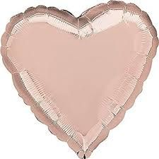 Heart 05 Rose Gold Mylar Balloon 18in