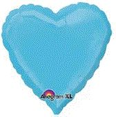Heart 17 Caribbean Blue Mylar Balloon 18in