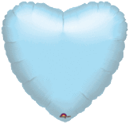 Heart 21 Pastel Blue Mylar Balloon 18in