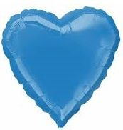 Heart 22 Periwinkle Mylar Balloon 18in
