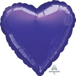 Heart 26 Metallic Purple Mylar Balloon 18in