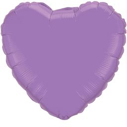 Heart 28 Spring Lilac Mylar Balloon 18in
