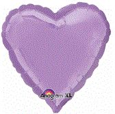 Heart 29 Pearl Lavender Mylar Balloon 18in