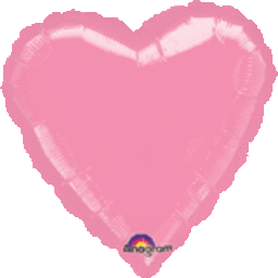 Heart 31 Metallic Pink Mylar Balloon 18in