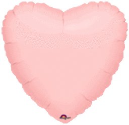 Heart 32 Pastel Pink Mylar Balloon 18in