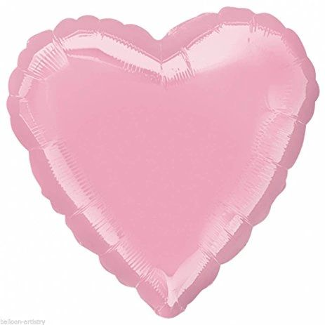 Heart 33 Iridescent Pearl Pink Mylar Balloon 18in