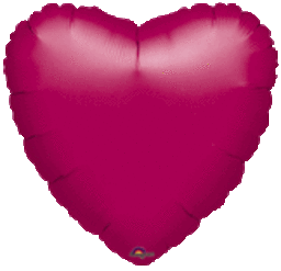 Heart 37 Fuchsia Mylar Balloon 18in