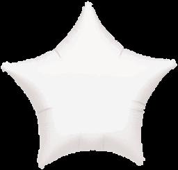 Star 02 Metallic White Mylar Balloon 18in