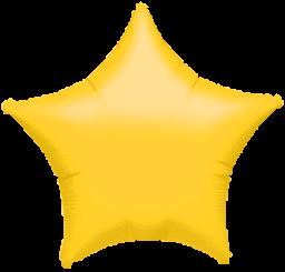 Star 06 Metallic Yellow Mylar Balloon 19in