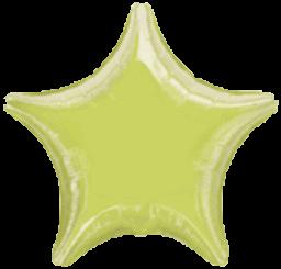 Star 11 Lime Green Mylar Balloon 19in