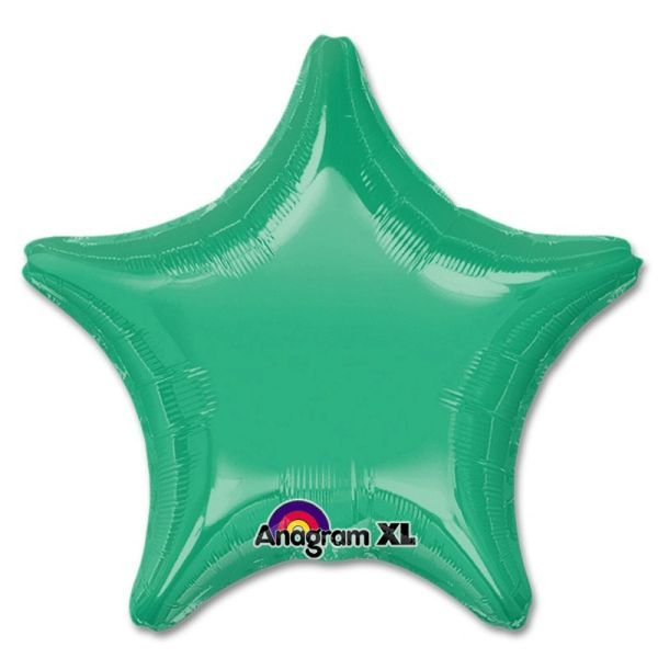 Star 15 Wintergreen Mylar Balloon 18in