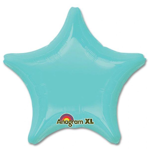 Star 18 Robin's Egg Blue Mylar Balloon 18in