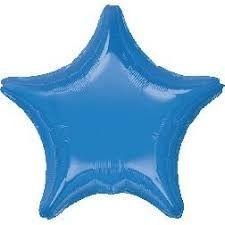 Star 22 Periwinkle Mylar Balloon 18in