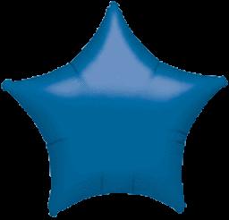 Star 23 Metallic Blue Mylar Balloon 18in