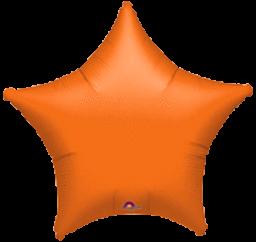 Star 41 Orange Mylar Balloon 18in