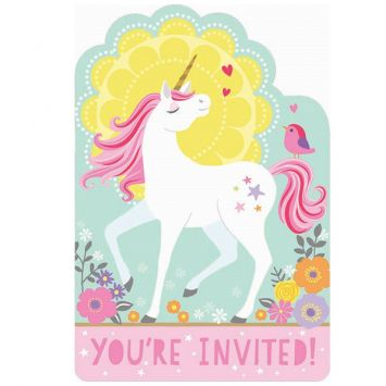 Magical Unicorn Postcard Invitations, 8ct