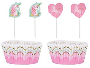 Magical Unicorn Cupcake Cases & Picks, 24ct