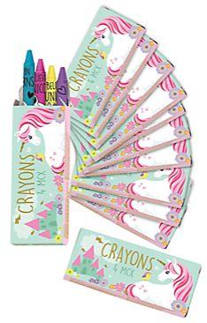 Magical Unicorn Crayon Boxes, 12ct