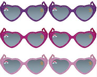 Magical Unicorn Glitter Glasses, 6ct