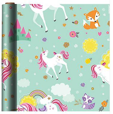 Magical Unicorn Printed Gift Wrap, 5ft