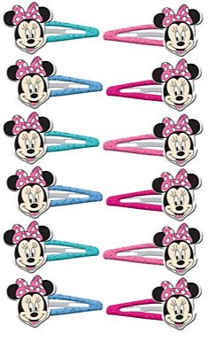 ©Disney Minnie Mouse Happy Helpers Hair Clips, 12ct