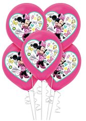 ©Disney Minnie Mouse Happy Helpers Color Printed Latex Balloons, 5ct