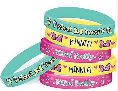 ©Disney Minnie Mouse Happy Helpers Rubber Bracelets, 6ct