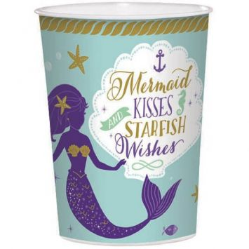 Mermaid Wishes Favor Cup, 16oz