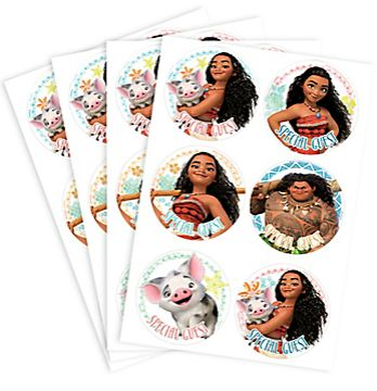©Disney Moana Party ID Stickers, 24ct