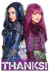 ©Disney Descendants 2 Postcard Thank You Cards