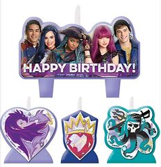 ©Disney Descendants 2 Birthday Candle Set