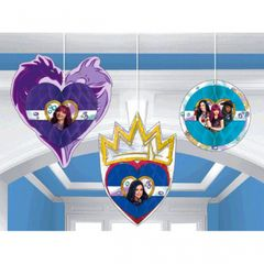 ©Disney Descendants 2 Honeycomb Decorations